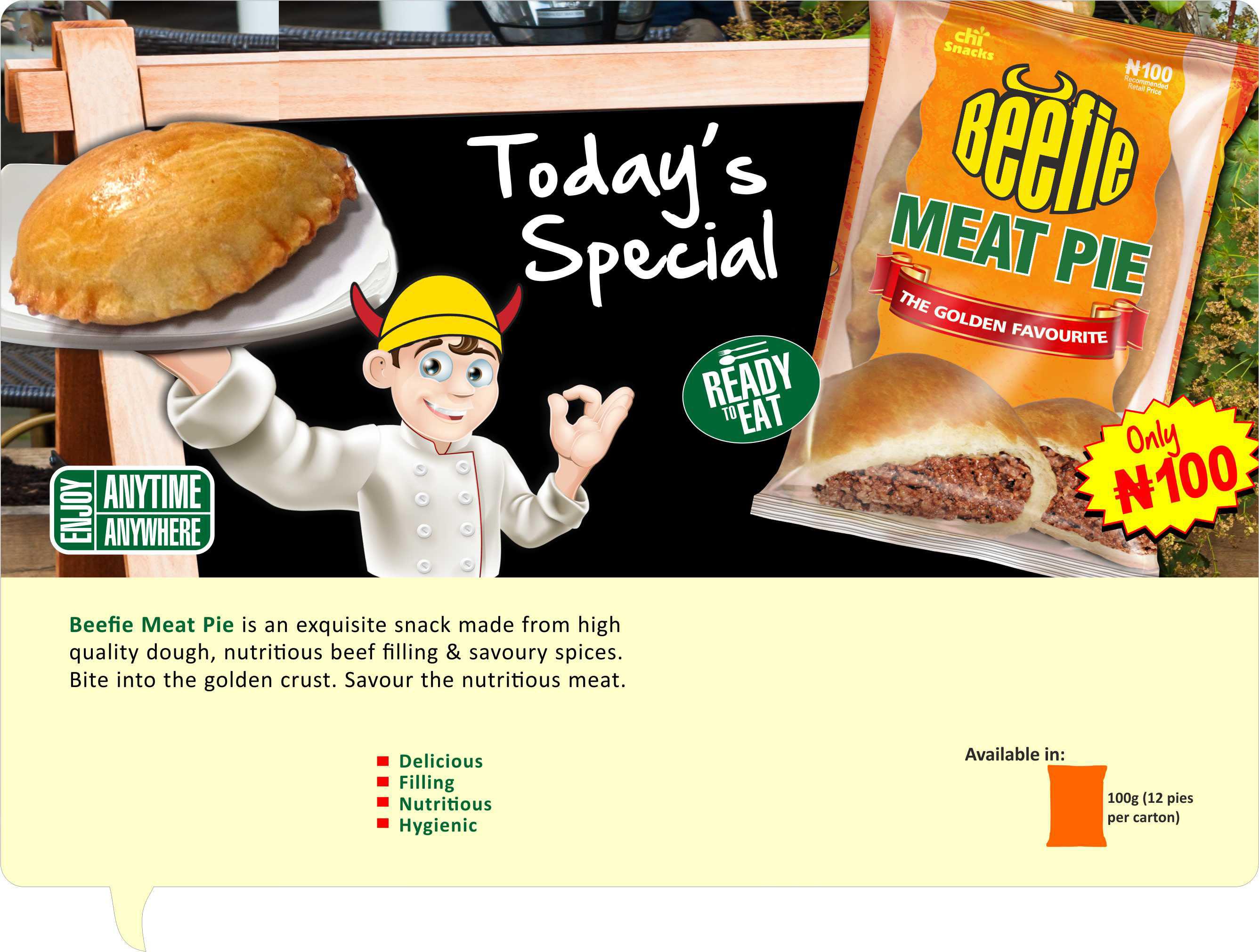 Chi Snacks Beefie Meat Pie